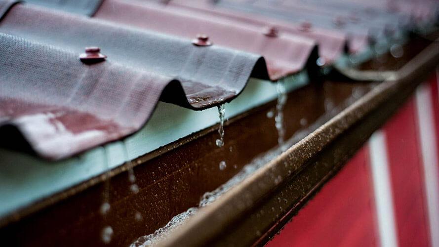 Captacion de aguas por techos o secha de agua pluvial